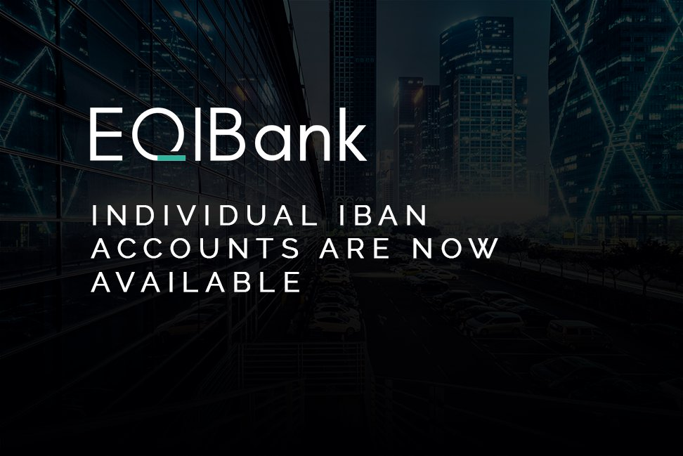 Individual IBAN accounts are now available